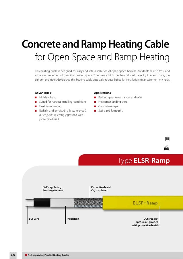 eltherm self regulating heat trace cable product catalogue 22 2 22 self regulating parallel heating