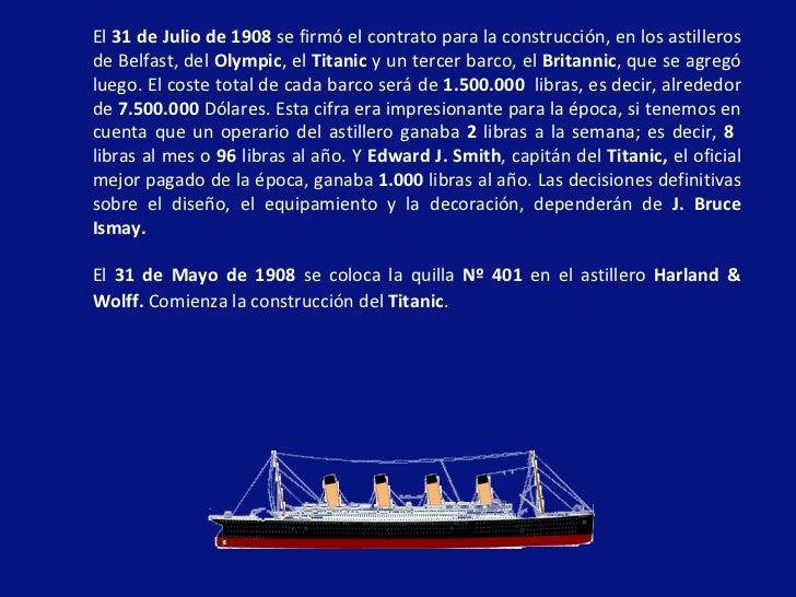 El titanic - Construccion del titanic ...