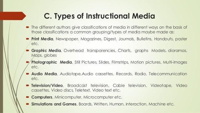 types of instructional media pdf