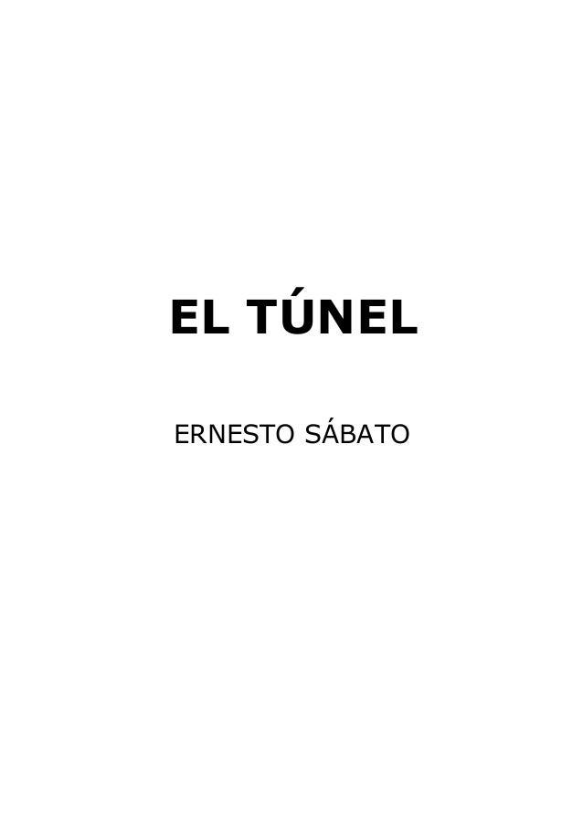 EL TÚNEL ERNESTO SÁBATO