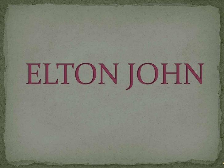 ELTON JOHN<br />
