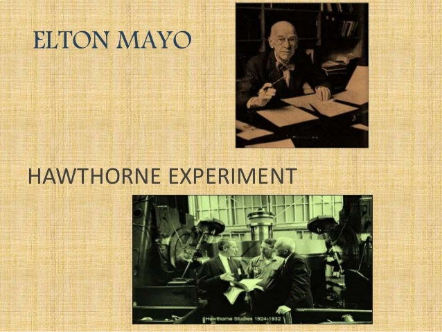 a look at the hawthorne experiments This paper analyzes the hawthorne studies that are established to identify the influence of the social, physical, and psychological environment on the workers productivity the series of experiments conducted is discussed and a criticism examines the results and conclusions of these studies are the.