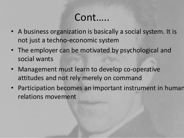 elton mayo contribution to management essays Relevance of classical management theories in modern business environment essays,  elton mayo and douglas mcgregor.