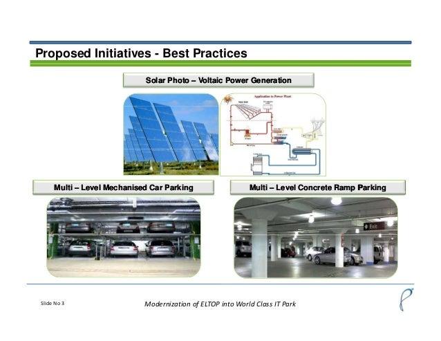 Modernization of ELTOP,Mohali into World Class IT Park Slide 3