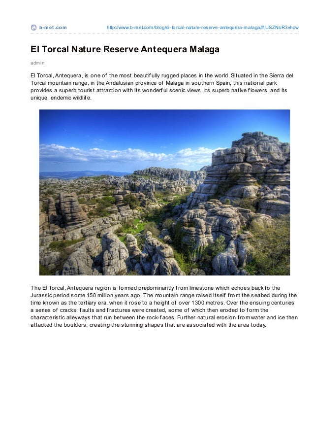b-m e t .co m               http://www.b-met.co m/blo g/el-to rcal-nature-reserve-antequera-malaga/#.USZNsR3vhcwEl Torcal ...