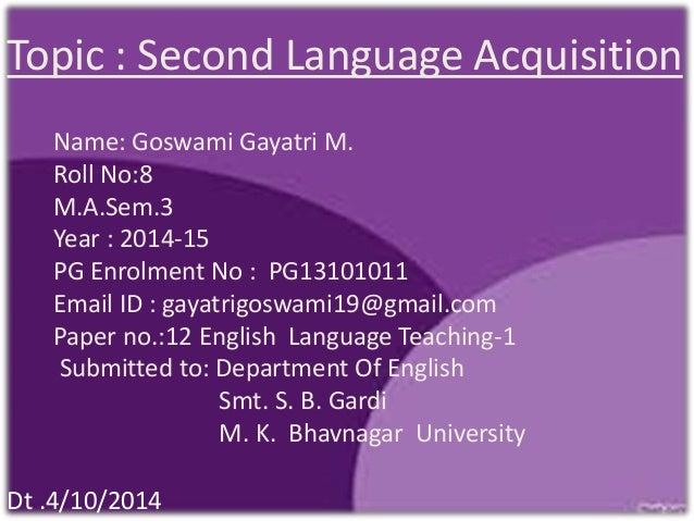 second language acquisition topics