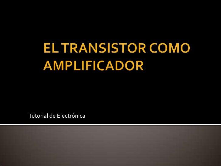 Tutorial de Electrónica
