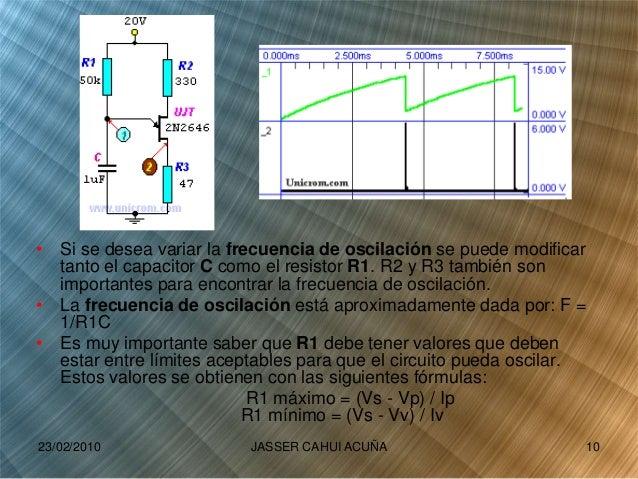 • Si se desea variar la frecuencia de oscilación se puede modificar tanto el capacitor C como el resistor R1. R2 y R3 tamb...