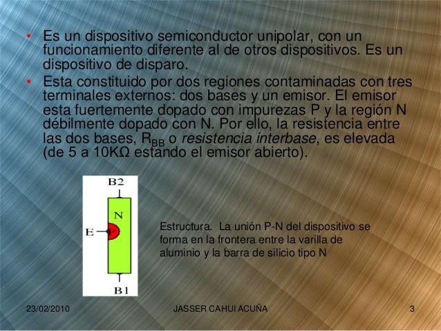 • Es un dispositivo semiconductor unipolar, con un funcionamiento diferente al de otros dispositivos. Es un dispositivo de...