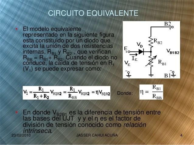 • El modelo equivalente representado en la siguiente figura esta constituido por un diodo que excita la unión de dos resis...
