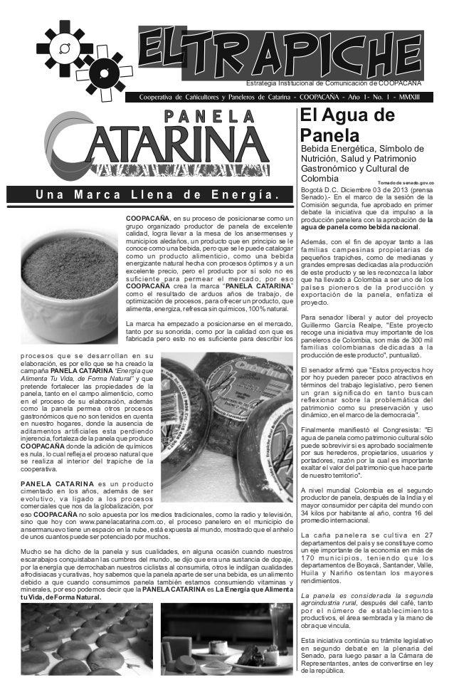 Estrategia Institucional de Comunicación de COOPACAÑA  El Agua de Panela  Bebida Energética, Símbolo de Nutrición, Salud y...