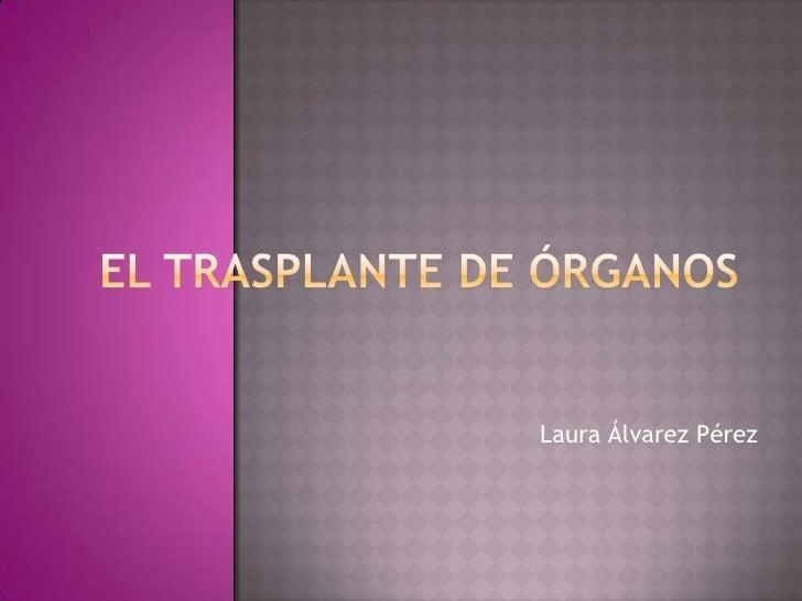 El trasplante de órganos<br />Laura Álvarez Pérez<br />