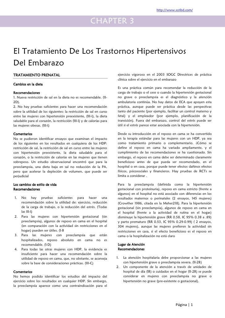 El tratamiento de los trastornos hipertensivos del embarazo