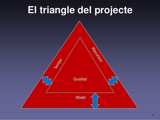 1 El triangle del projecte Qualitat Abast