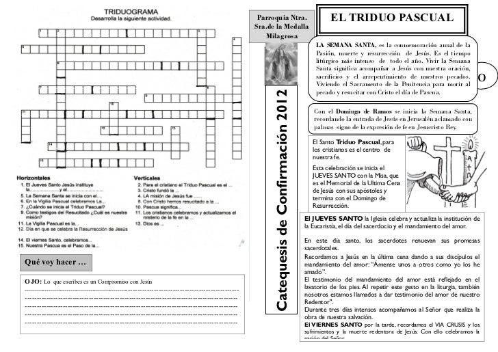 Parroquia Ntra.                                 EL TRIDUO PASCUAL                                                         ...