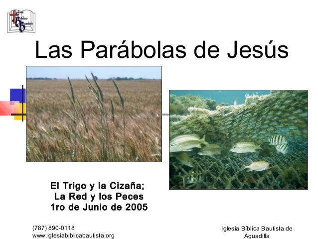 Las Parábolas de Jesús      El Trigo y la Cizaña;       La Red y los Peces      1ro de Junio de 2005(787) 890-0118        ...