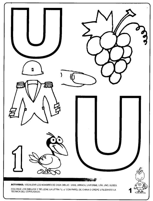 Dibujos Para Colorear Que Empiecen Con La Letra U - Dibujos Para Dibujar