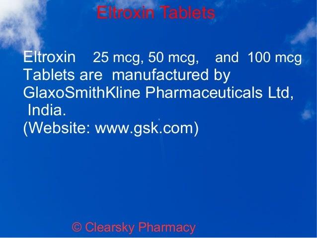 Eltroxin Levothyroxine Sodium Tablets