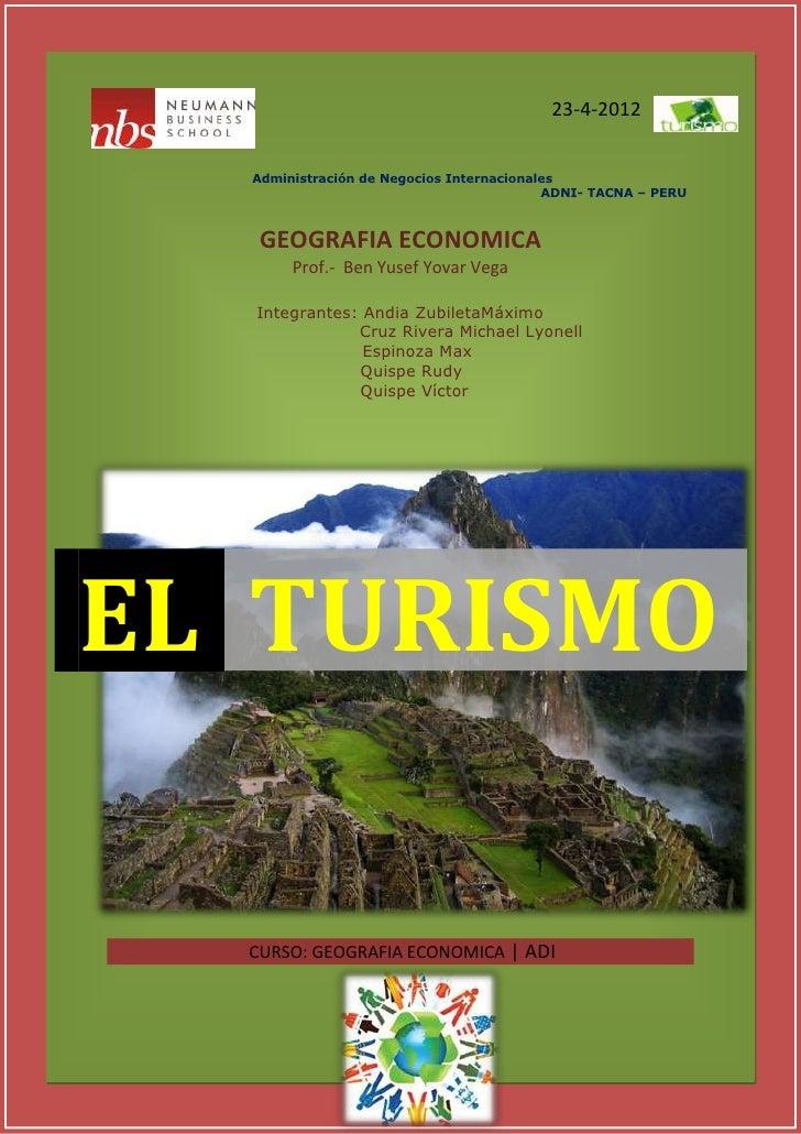 GEOGRAFIA ECONOMICA                                              TURISMO                                                  ...