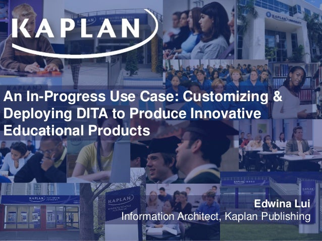 An In-Progress Use Case: Customizing & Deploying DITA to Produce Innovative Educational Products 3 Year Plan Financial Sum...