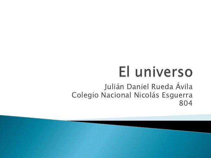 Julián Daniel Rueda ÁvilaColegio Nacional Nicolás Esguerra                              804