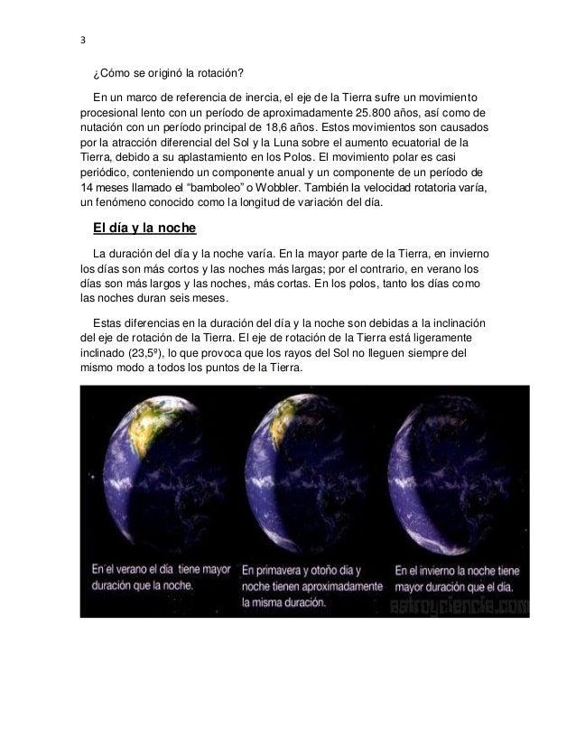 El universo la rotación de la tierra