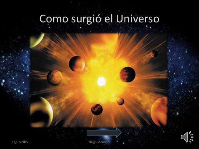 Resultado de imagen de Como surgió el Universo