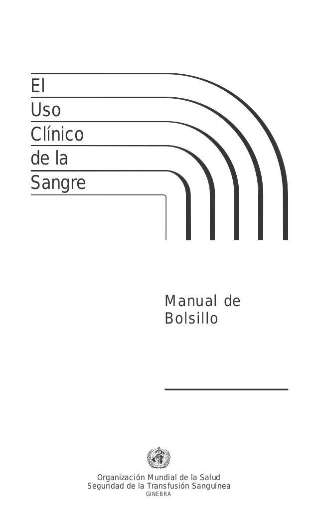 ElUsoClínicode laSangre                              Manual de                              Bolsillo            Organizaci...