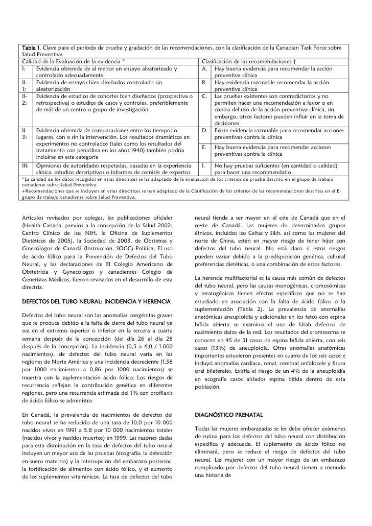 El uso de ácido fólico en combinación con un suplemento de multivitaminas para la prevención de defectos del tubo neural y otras anomalías congénitas Slide 3