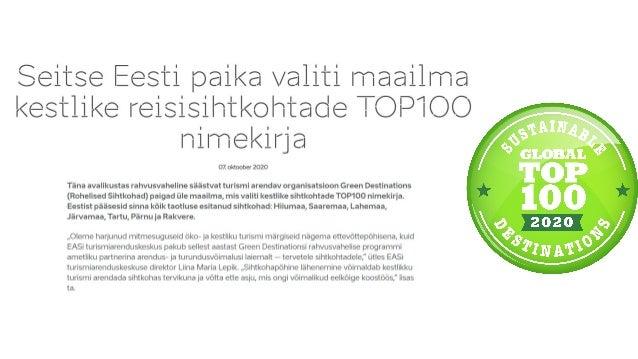 15.oktoobril Eesti Loodusturismi Ühingu aastakoosolek