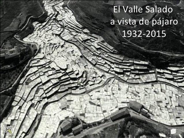 El Valle Salado a vista de pájaro 1932-2015