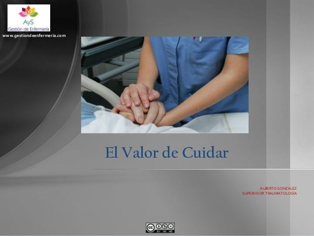 www.gestiondeenfermeria.com  El Valor de Cuidar ALBERTO GONZALEZ SUPERVISOR TRAUMATOLOGÍA
