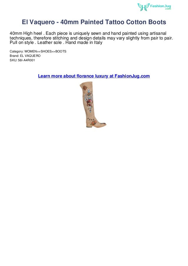 El Vaquero - 40mm Painted Tattoo Cotton Boots40mm High heel . Each piece is uniquely sewn and hand painted using artisanal...
