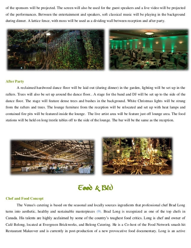 special event proposal elven woodland gala