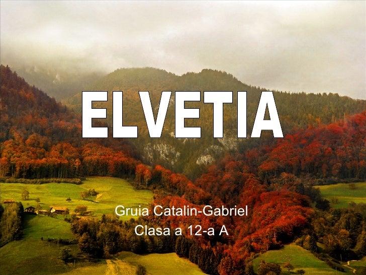 Gruia Catalin-Gabriel Clasa a 12-a A ELVETIA