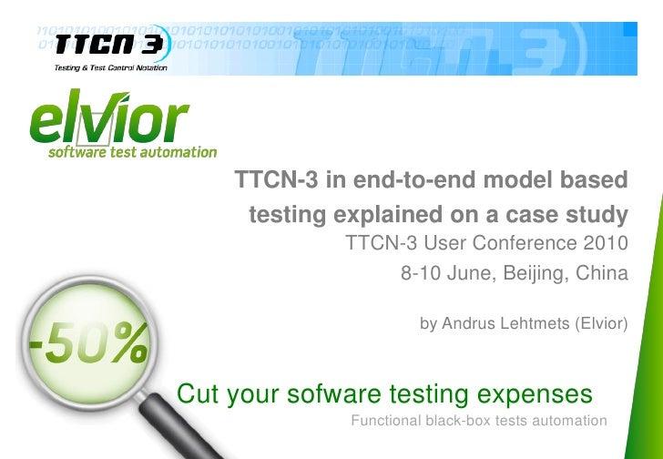 Tutorial T3UC - TTCN-3 end-to-end models based testing