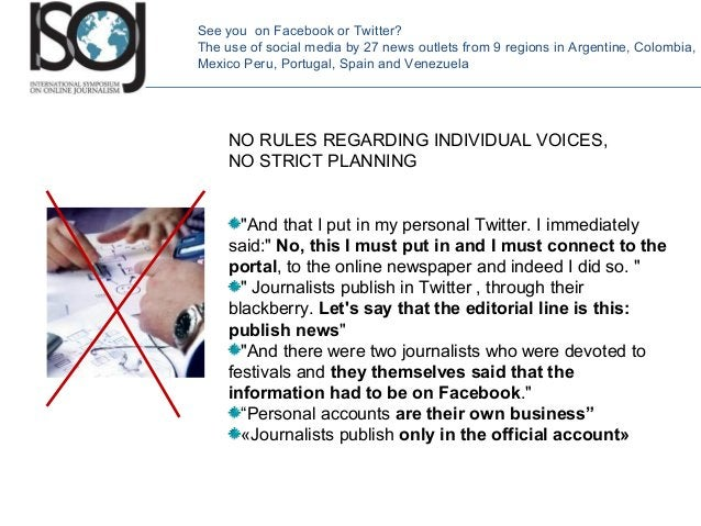 """NO RULES REGARDING INDIVIDUAL VOICES, NO STRICT PLANNING """"And that I put in my personal Twitter. I immediately said:"""" No, ..."""