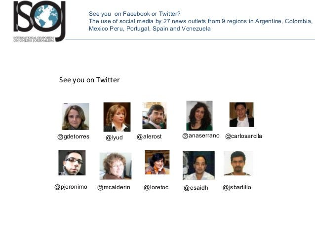 See you on Twitter @gdetorres @lyud @esaidh @carlosarcila @pjeronimo @alerost @jsbadillo@mcalderin @anaserrano @loretoc Se...