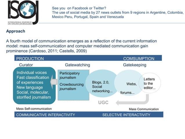 Participatory journalism Crowdsourcing journalism COMMUNICATIVE INTERACTIVITY SELECTIVE INTERACTIVITY PRODUCTION COMSUMPTI...