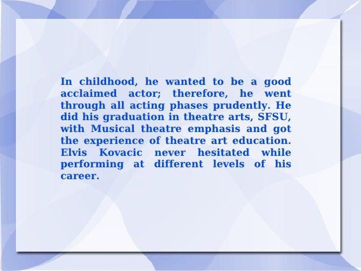 Elvis Kovacic: Tips to improve acting skills