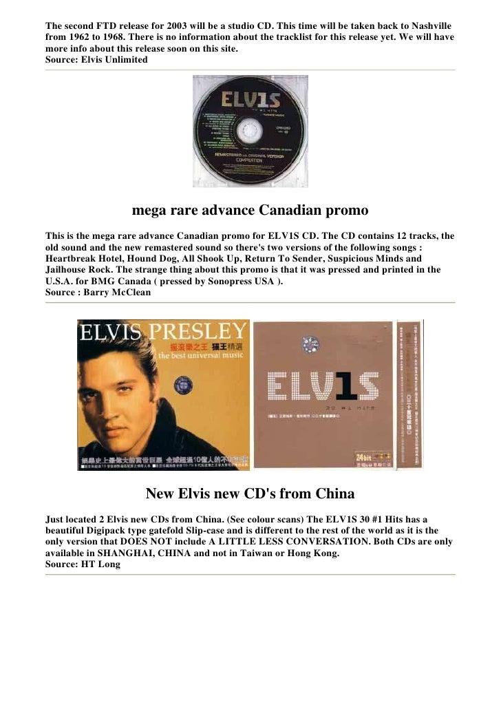 Elvis Presley Collectors Bmg4