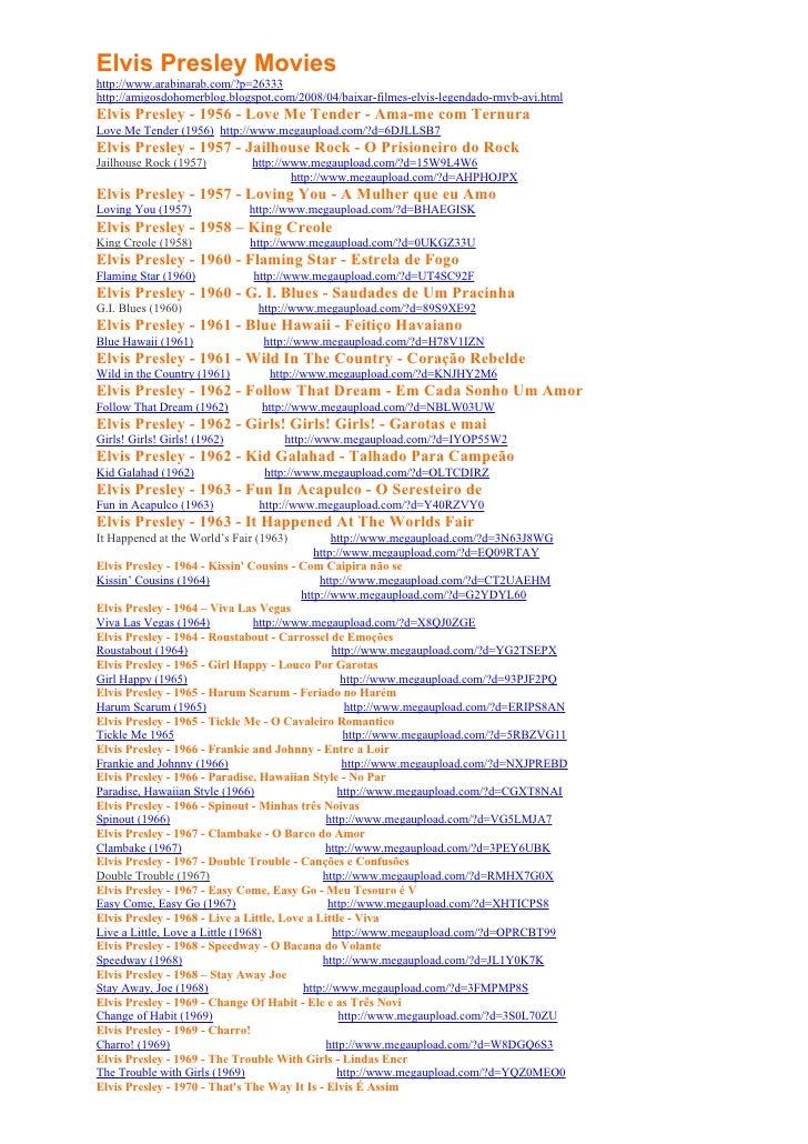 Elvis Presley Movies http://www.arabinarab.com/?p=26333 http://amigosdohomerblog.blogspot.com/2008/04/baixar-filmes-elvis-...