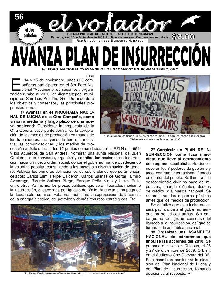 PRENSA POPULAR DE LA OTRA HUASTECA-TOTONACAPAN                               Papantla, Ver. 1° de Diciembre de 2009. Publi...