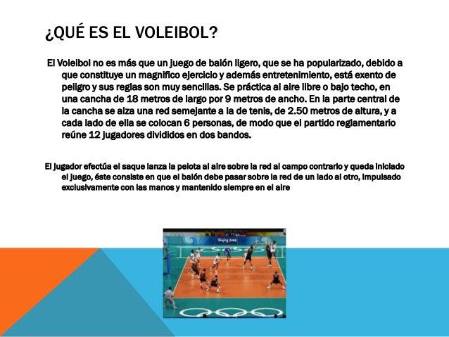 El voleibol for En juego largo hay desquite