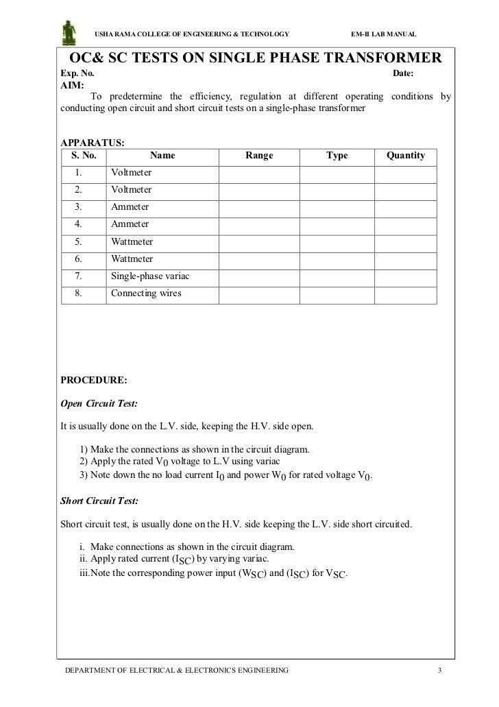 electrical machines 2 lab manual rh slideshare net diploma electrical wiring lab manual Iti Electrical Diploma