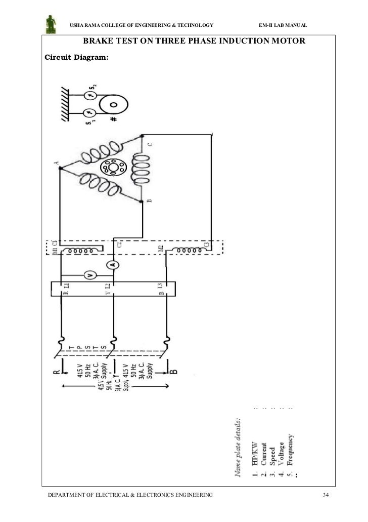 electrical machines 2 lab manual 34 728 load test on three phase induction motor circuit diagram  at honlapkeszites.co