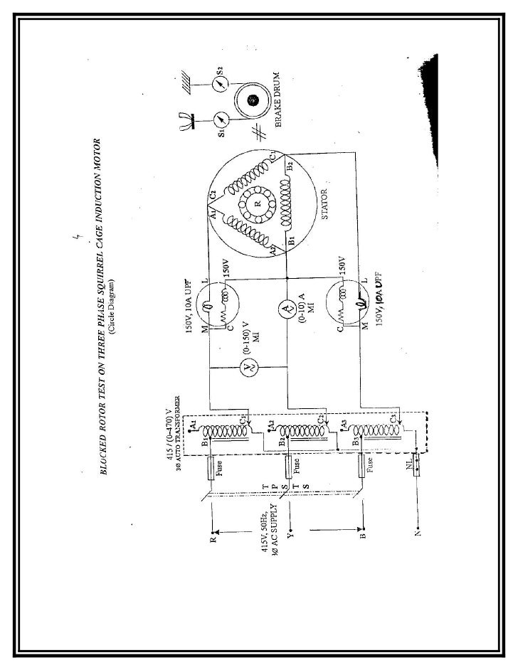 Squirrel cage induction motor circuit diagram repair for 3 phase motor theory