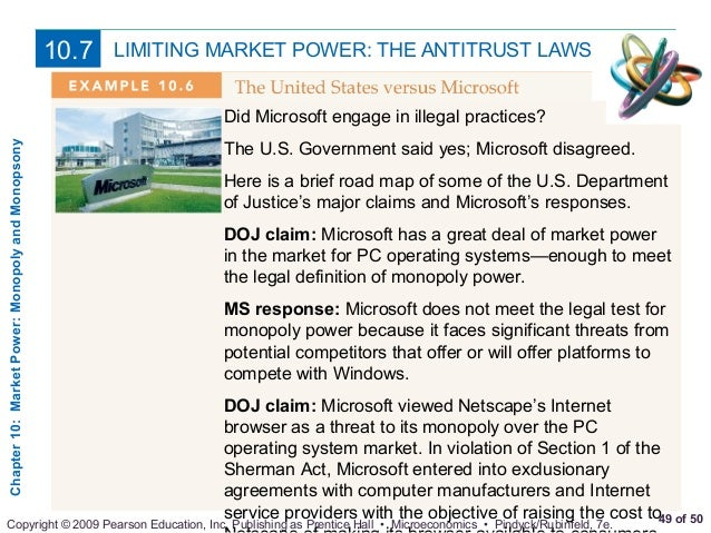 antitrust practices and market power Group boycotts any company may, on if the group of competitors working together has market power price cutters are especially likely to raise antitrust.