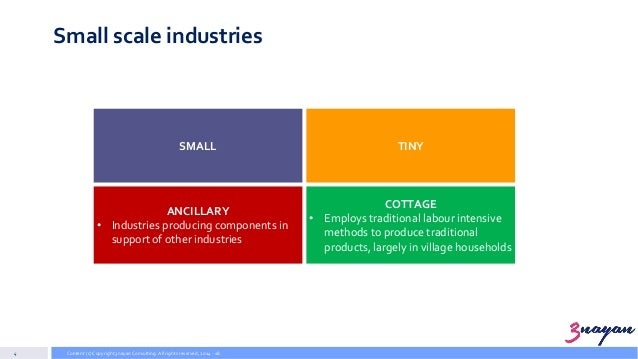 types of small industry