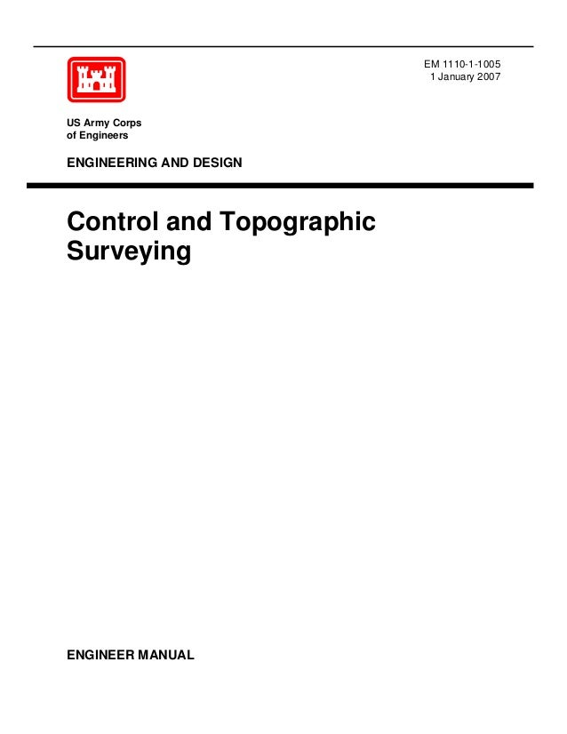 Em 1110 1 1005 Control And Topographic Surveying